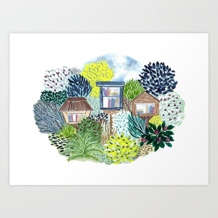 Little Libraries Art Print