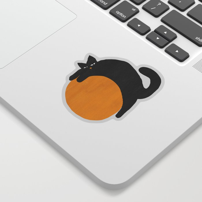 Cat with ball Sticker