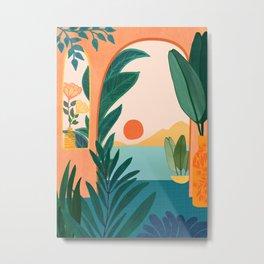 Tropical Evening Metal Print