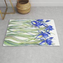 Blue Iris, Illustration Rug