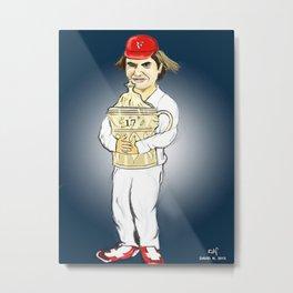 Federer Metal Print