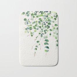 Eucalyptus Watercolor Bath Mat