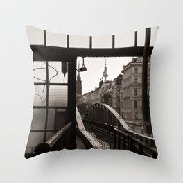 BERLIN TELETOWER - urban landscape Throw Pillow