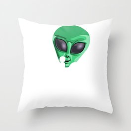 Alien Mom Funny UFO Extraterrestrial Space Throw Pillow
