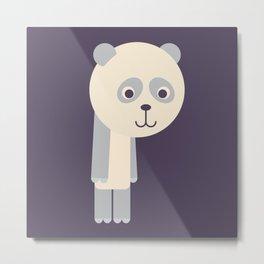 Letter P // Animal Alphabet // Panda Monogram Metal Print