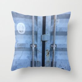 Shipping Container Doors Throw Pillow
