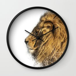 Lion Head Splatter Wall Clock