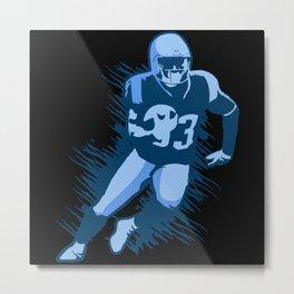 Player with Football Metal Print