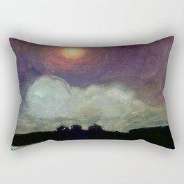 The Killing Moon nighttime beach landscape by Gustaw Gwozdecki Rectangular Pillow