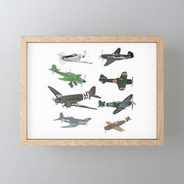 Multiple WW2 Airplanes Framed Mini Art Print