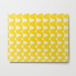 Curves and Lines in Yellow Metal Print