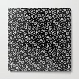 Inductors - White on Black Metal Print