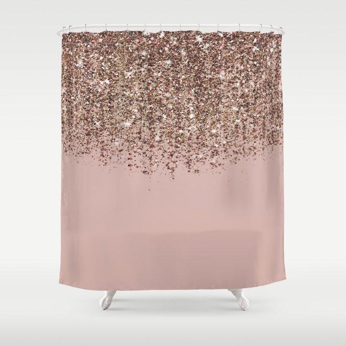 Blush Pink Rose Gold Bronze Cascading