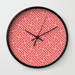 Lattice - Coral Wall Clock