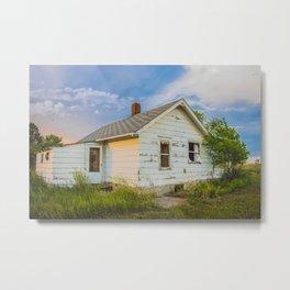 Little Farmhouse All Alone, North Dakota 2 Metal Print