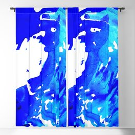 Save The Water Watercolour Blackout Curtain