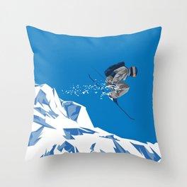 Ski Jump Throw Pillow