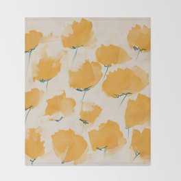 The Yellow Flowers Throw Blanket