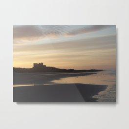 Bamburgh Sunset Metal Print