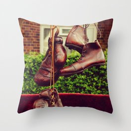 Vintage sport clothes | Second-hand market in London  Throw Pillow