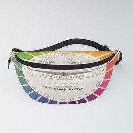 Vintage Color Wheel - Art Teaching Tool - Rainbow Mood Chart Pride Fanny Pack