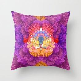 Underwater life illustration texture Throw Pillow