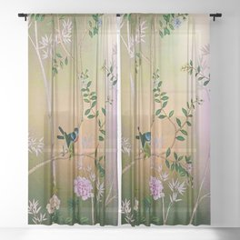 Chinoiserie Style Sheer Curtain