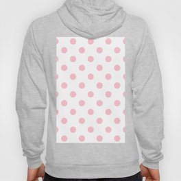 Polka Dots - Pink on White Hoody