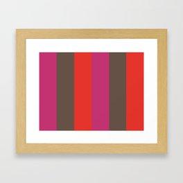 MURMUR: (M)agenta (U)mber (R)ed (M)agenta (U)mber (R)ed Framed Art Print