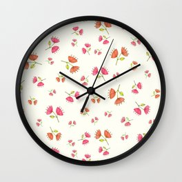 Bell Flowers – Floral Heart Collection Wall Clock
