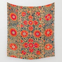 Kermina Suzani Uzbekistan Print Wall Tapestry