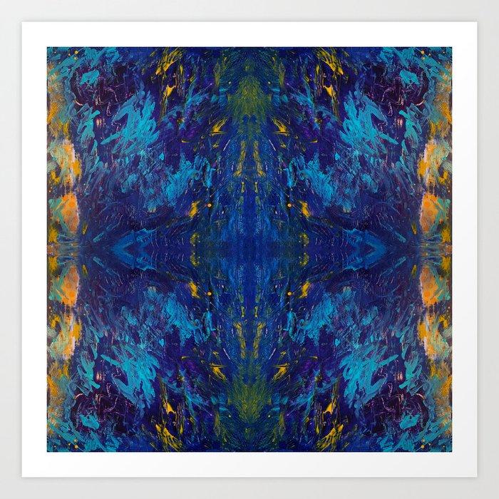 Moses Blue Art Print