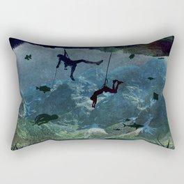 Climb and swim Rectangular Pillow