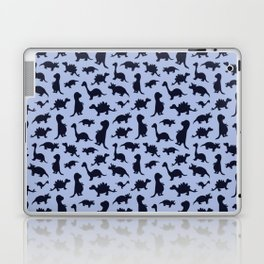 Dinosaurs cute pattern blue and navy Laptop & iPad Skin