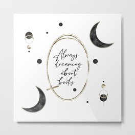 Always Dreaming About Books Metal Print