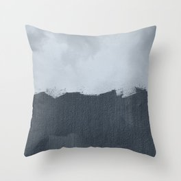 Two color abstract - off white, gray Throw Pillow