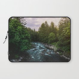 PNW River Run II - Pacific Northwest Nature Photography Laptop Sleeve