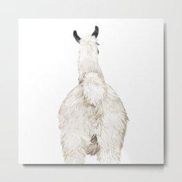 Llama Butt Metal Print