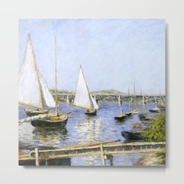 "Gustave Caillebotte ""Sailing Boats at Argenteuil"" Metal Print"