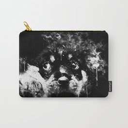 rottweiler puppy dog ws bw Carry-All Pouch