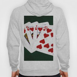 Poker Royal Flush Hearts Hoody