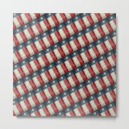 Vintage Texas flag pattern Metal Print