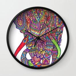 Elephant Mandala safari pattern Wall Clock