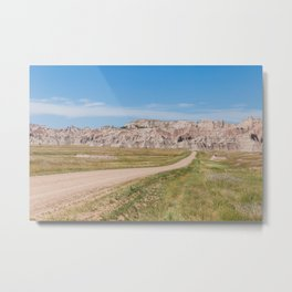 Backroads and Badlands - Nature Photography Metal Print