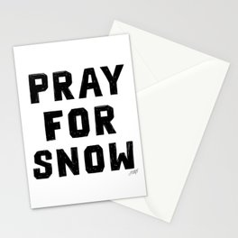 Pray For Snow Stationery Cards