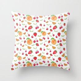 Oranges & Strawberries Pattern Throw Pillow