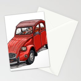 Red 2cv Stationery Cards