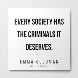 10     Emma Goldman Quotes   200602 Metal Print