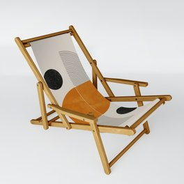 Abstract Geometric Shapes Sling Chair