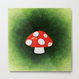 Cute Little Red Mushroom Metal Print